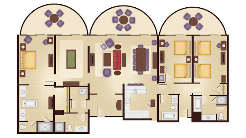 Jambo House Three Bedroom Grand Villa floor plan