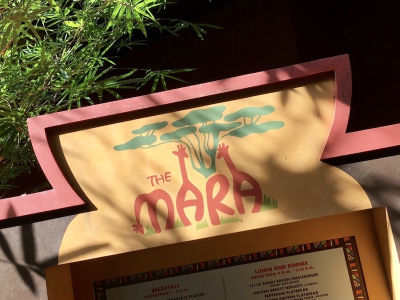 The Mara signage (Quick Service dining)