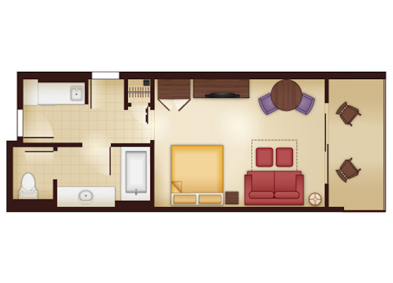 Kidani Village Deluxe Studio floor plan