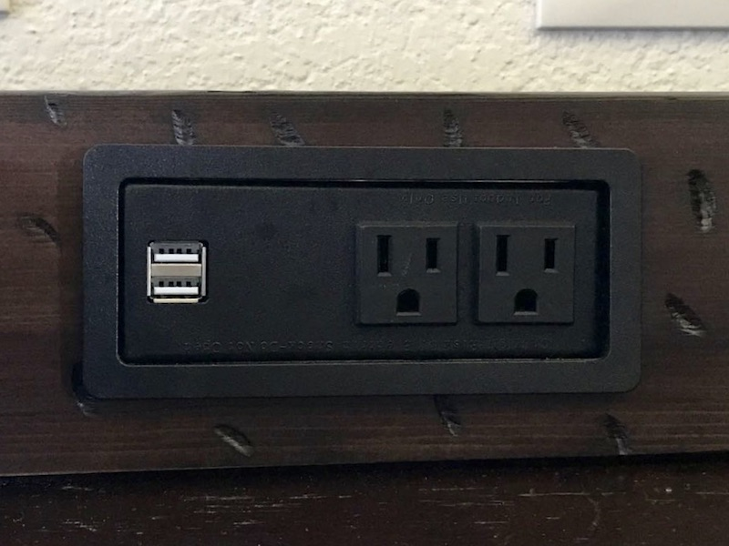 Electrical outlet with USB charging ports