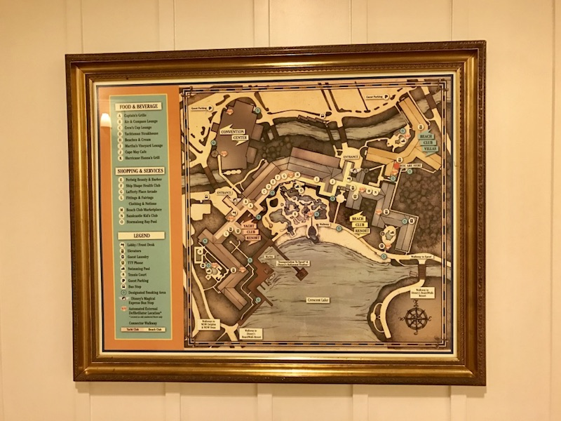 Framed resort map