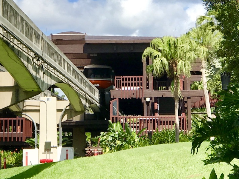 Resort exterior including Monorail platform