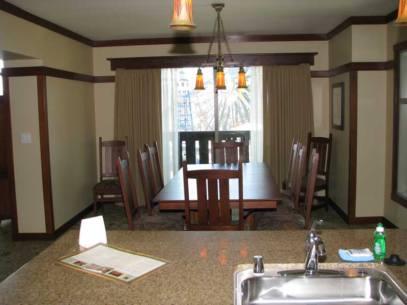Reverse angle on dining room