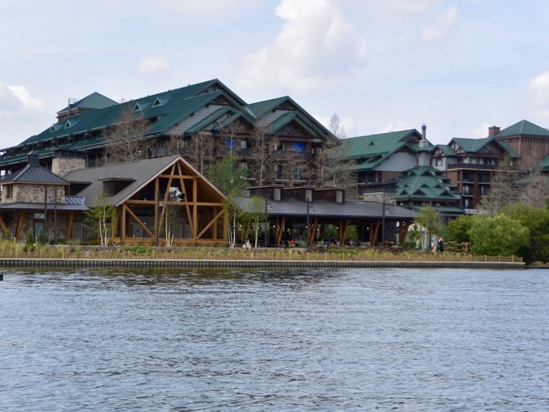 Geyser Point and Wilderness Lodge from Bay Lake