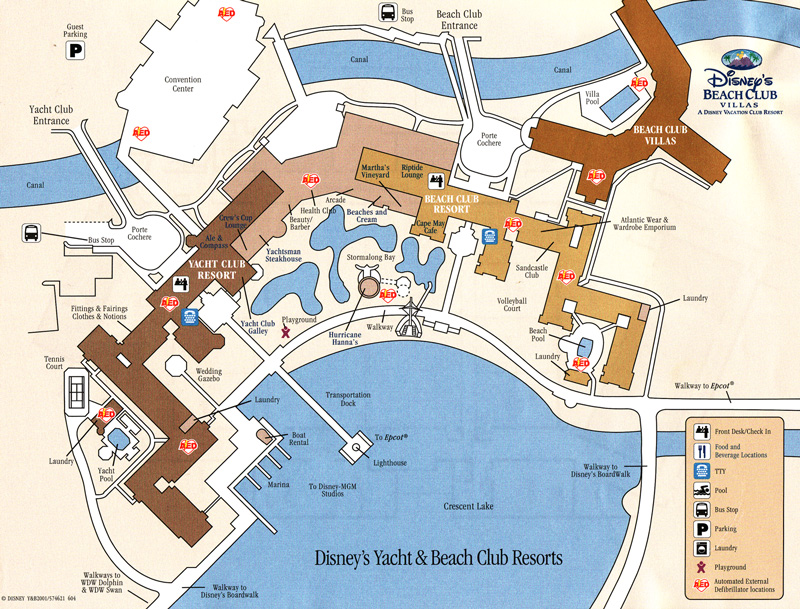 Beach Club Villas Map
