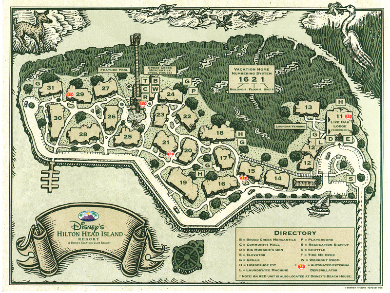 Hilton Head Island Map (front)