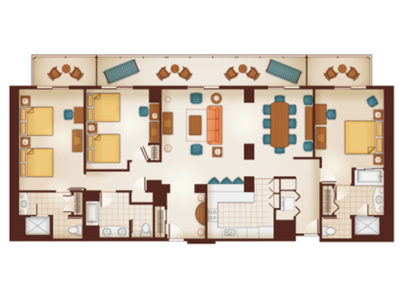 Three Bedroom Grand Villa floor plan
