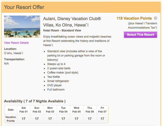 Aulani Hotel Room Availability