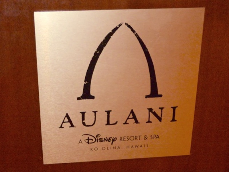 Indoor Aulani Sign