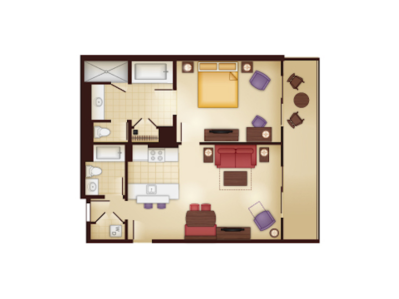 Kidani Village One Bedroom floor plan
