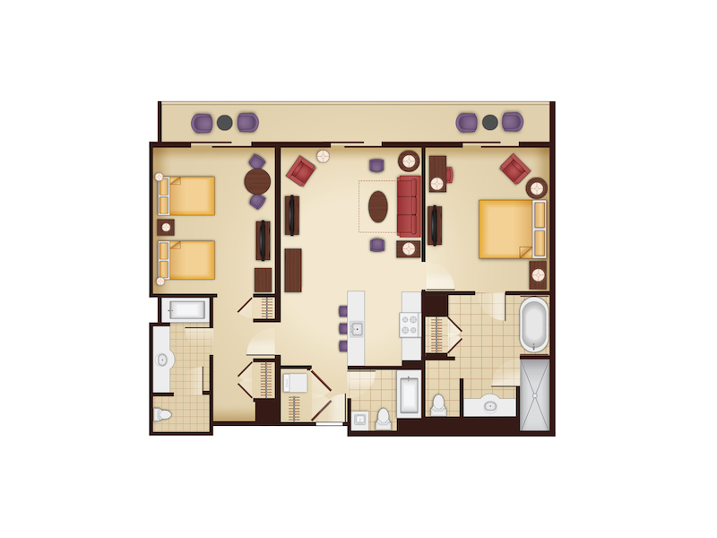 Maps photos the essential disney vacation club resource for Animal kingdom 2 bedroom villa floor plan