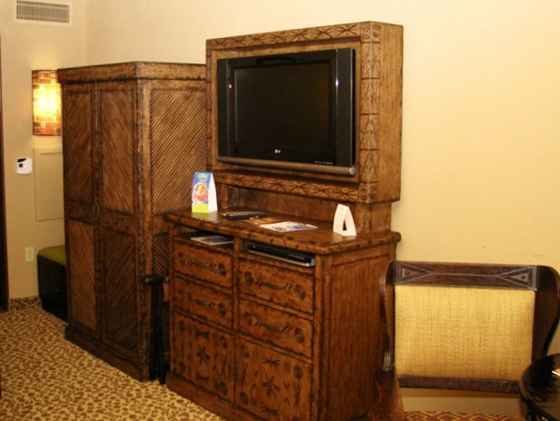 Flat panel TV, dresser and armoire
