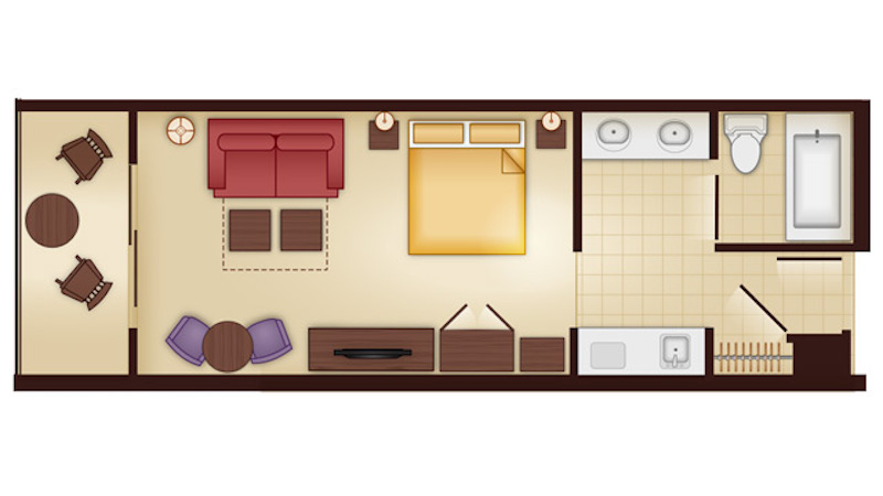 Jambo House Deluxe Studio Villa floor plan