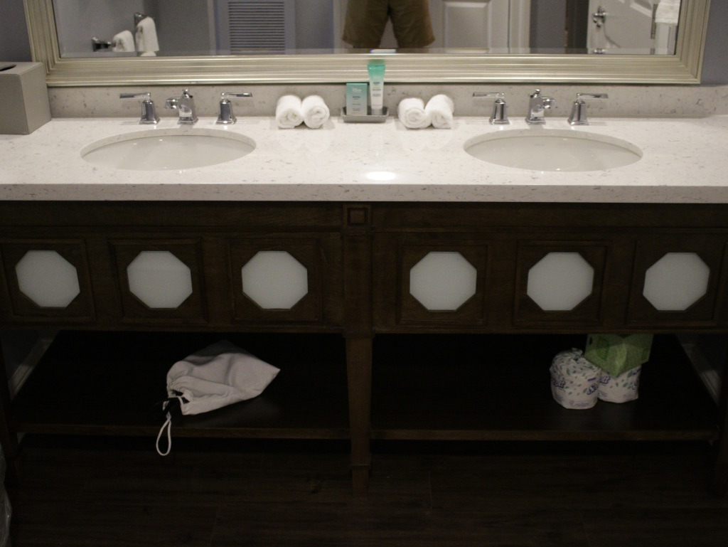 Bathroom vanity detail - dual sinks