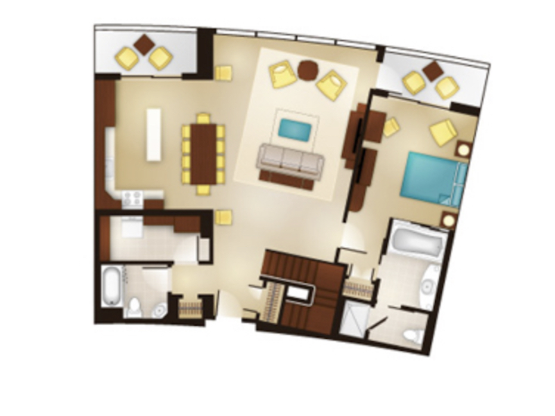 Three Bedroom Grand Villa floor plan - first floor