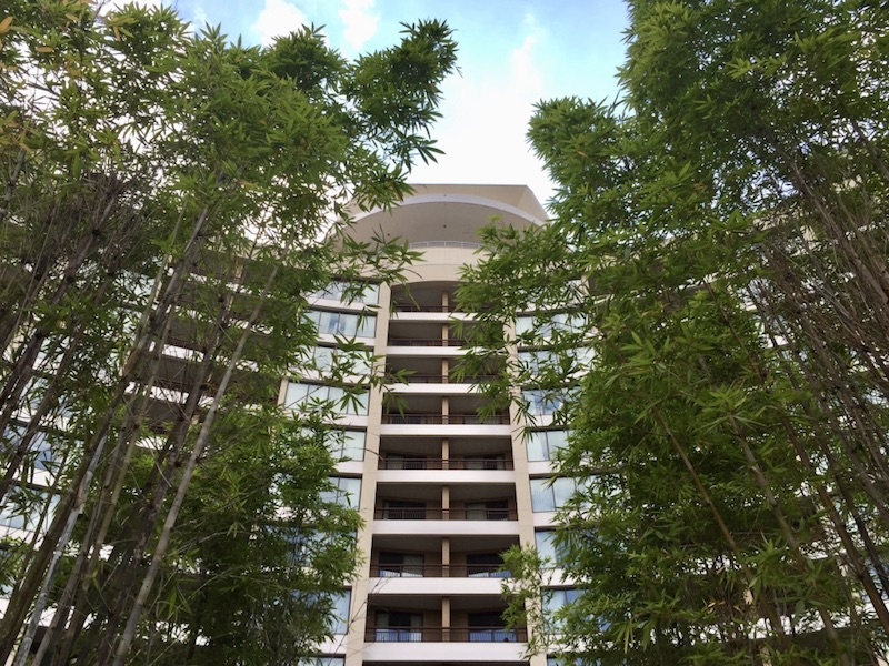 Bay Lake Tower courtyard