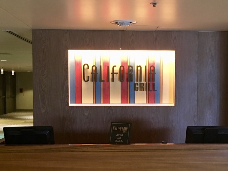 California Grill check-in station
