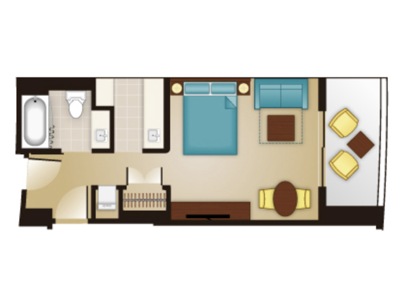 Deluxe Studio floor plan