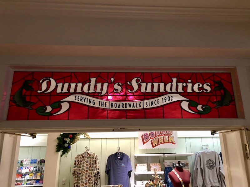 Dundy's Sundries lobby gift shop