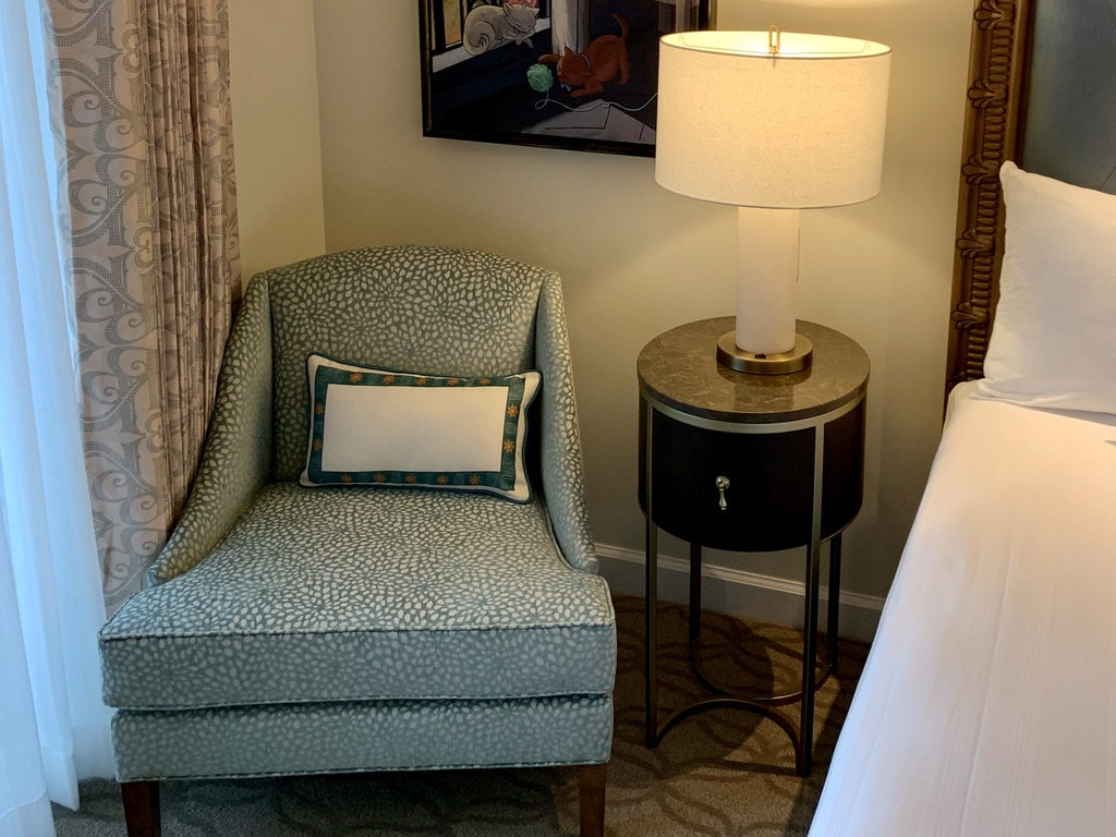 Side chair and nightstand
