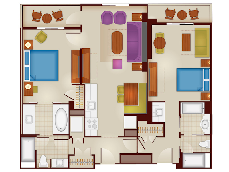 Lockoff Two Bedroom Floorplan