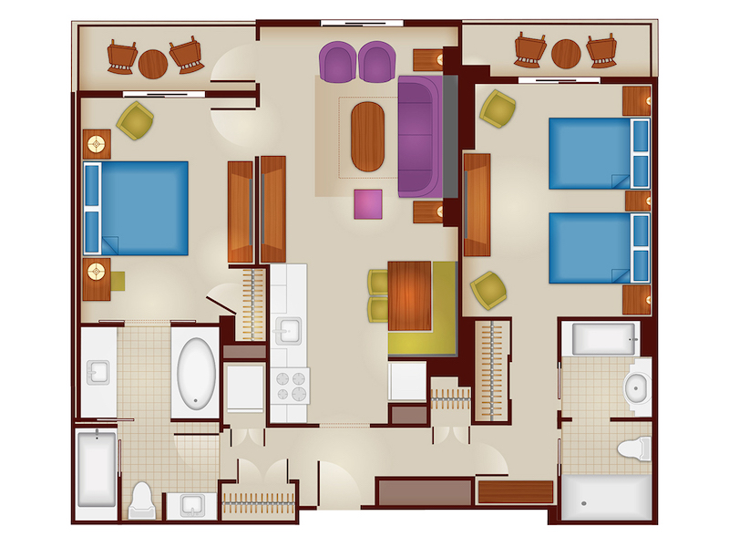 Dedicated Two Bedroom Floorplan