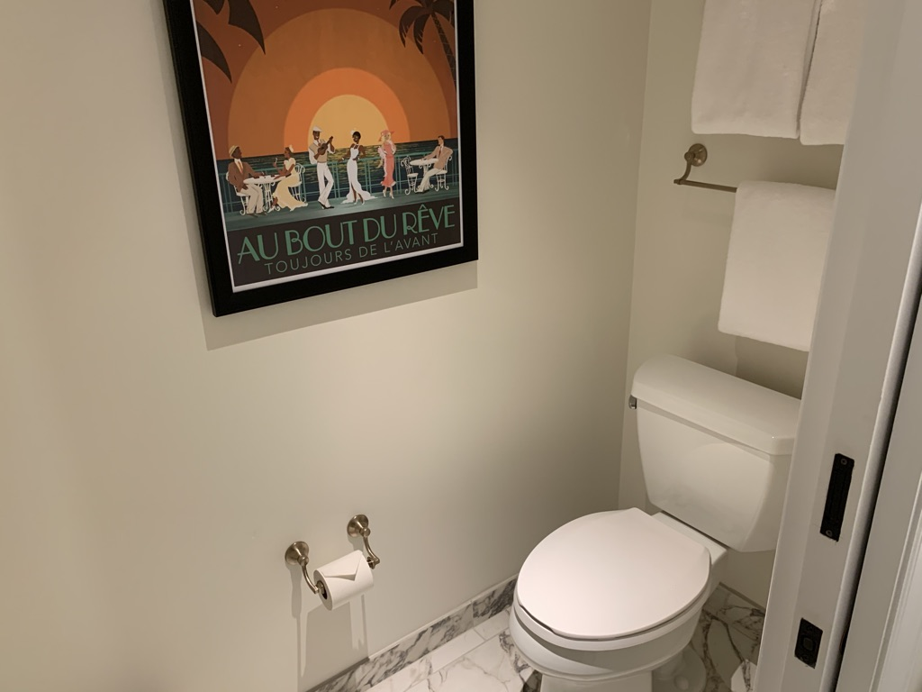 Third bathroom commode