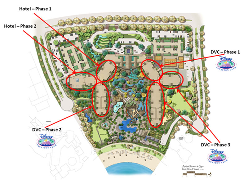 Aulani Construction Phases