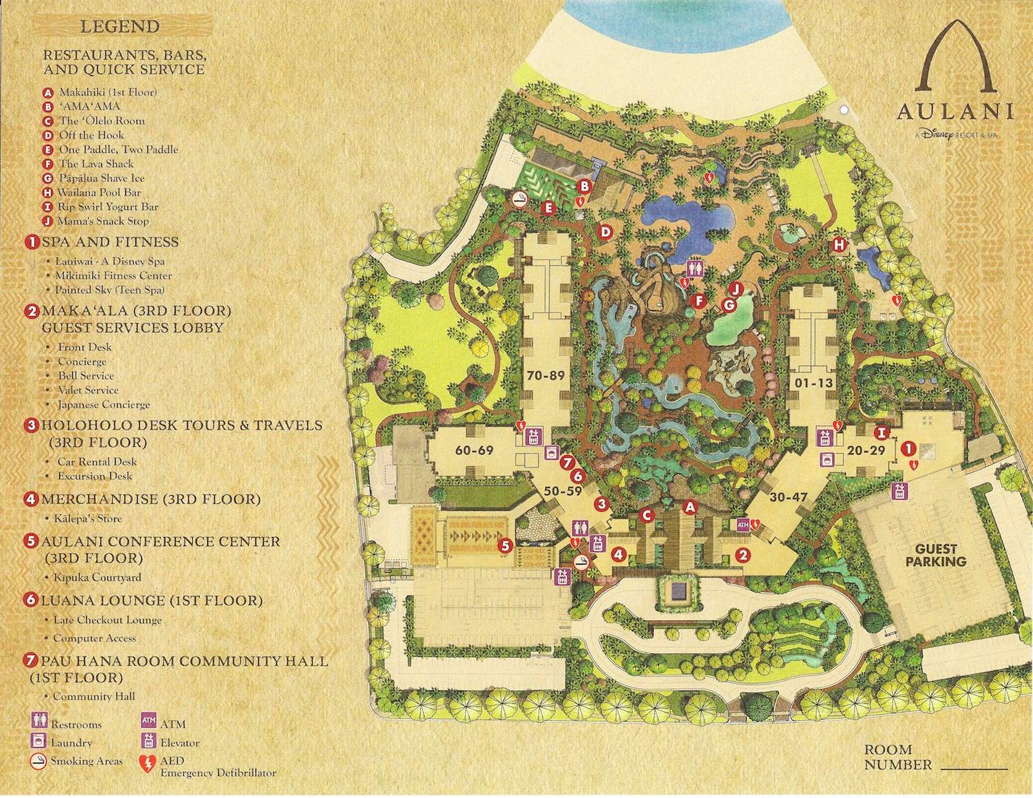 Aulani Map - Sept 2012