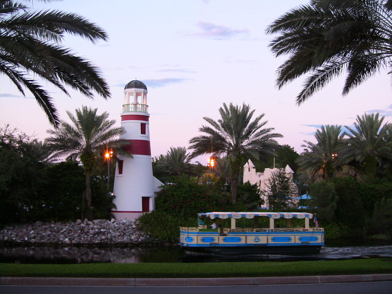 Lighthouse near main pool