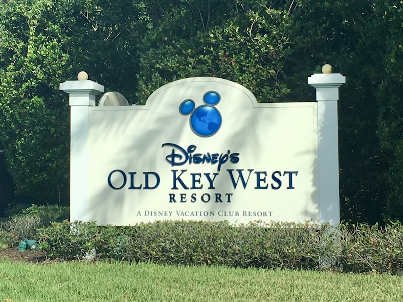 Resort entrance sign