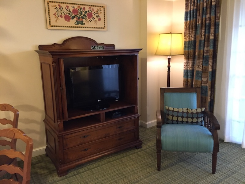 Living room TV and side chair