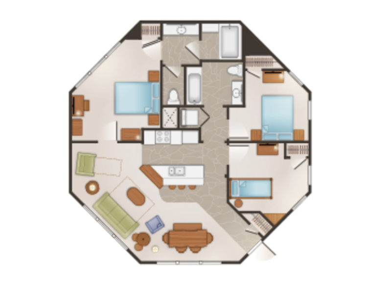 Treehouse Villa floor plan