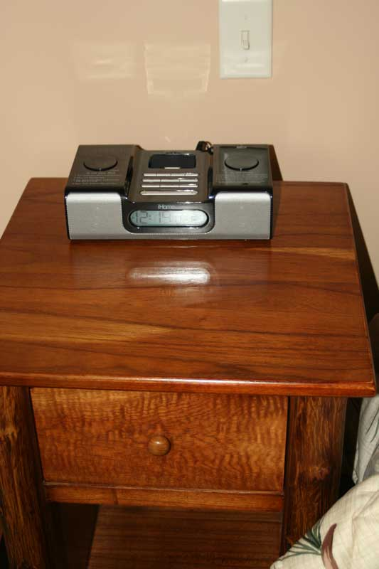 Bedroom Nightstand w/ iPod Dock