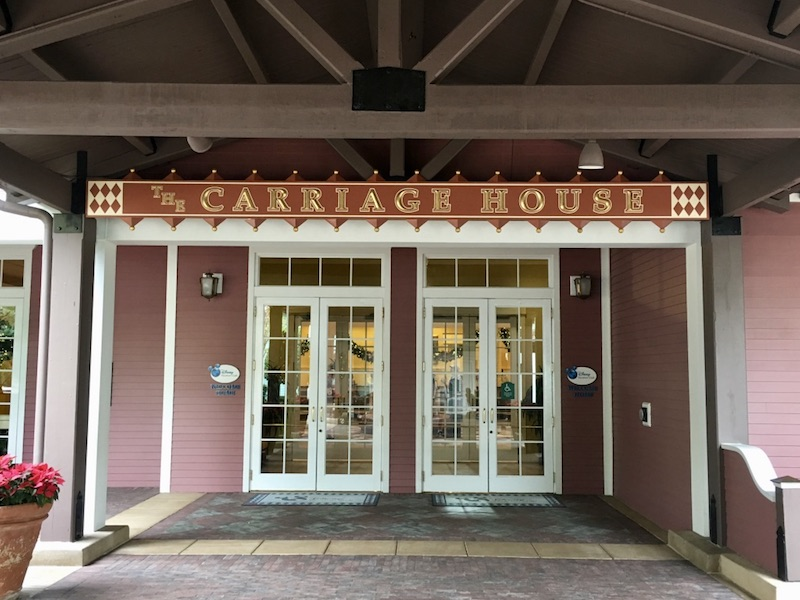 Main entrance to The Carriage House
