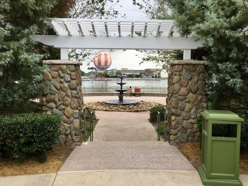 Congress Park Fountain overlooking Disney Springs