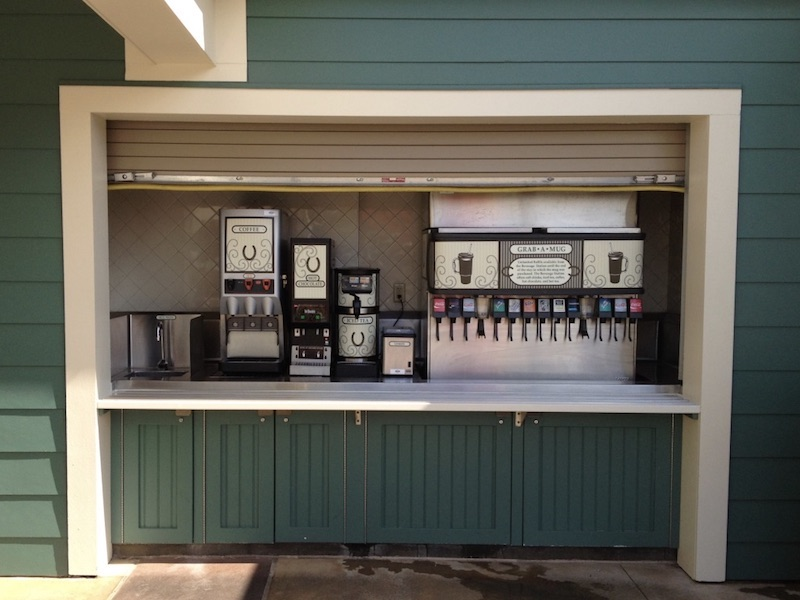 The Paddock Grill beverage refill station