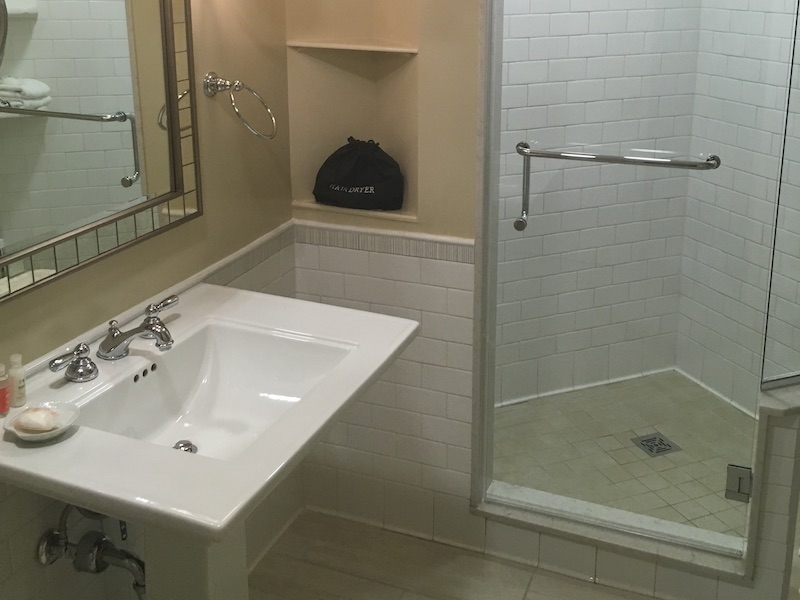 Master bath with shower stall