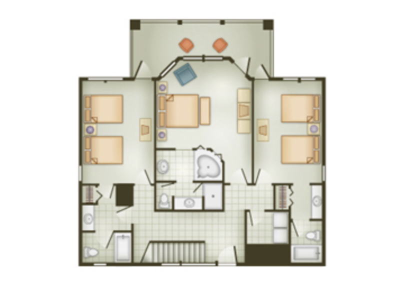 Beach Cottage floor plan - first floor