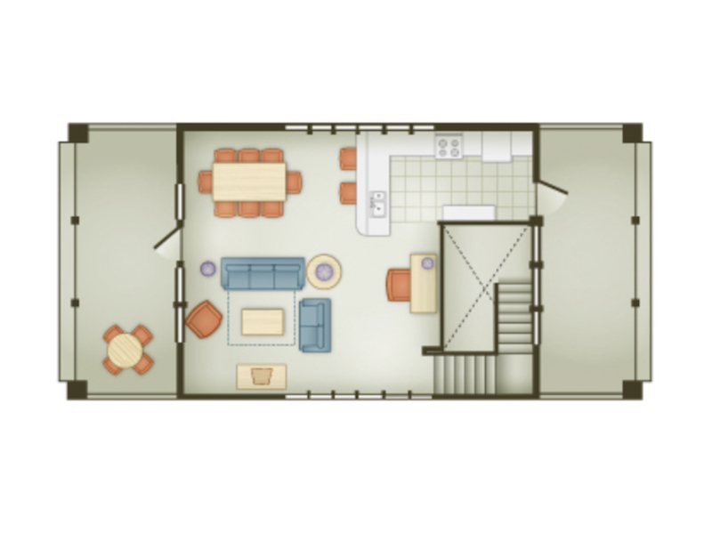 Beach Cottage floor plan - second floor