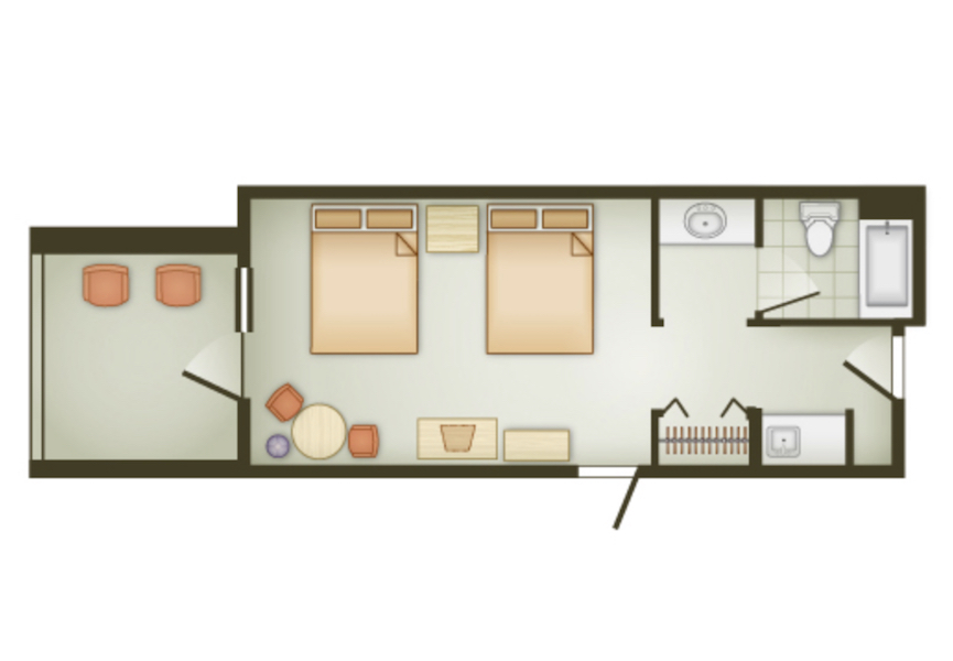 Deluxe Inn Room floor plan