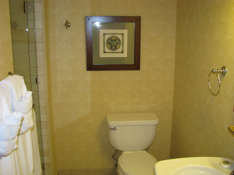3/4 Bathroom (sink, toilet, shower)