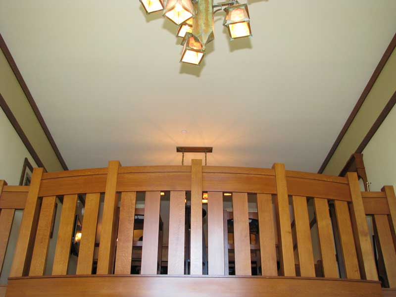 Second floor loft railing