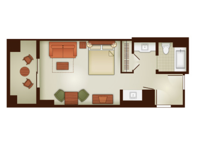 Deluxe Studio Villa floor plan