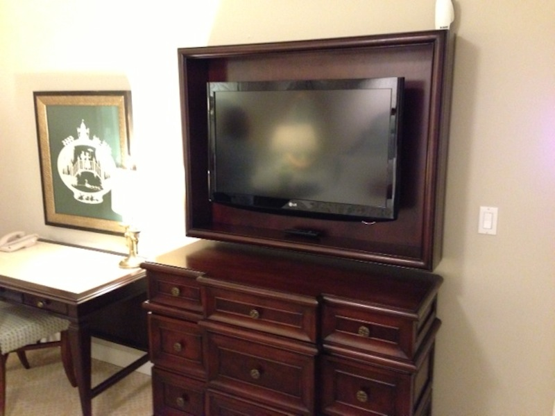 Master bedroom TV and armoire