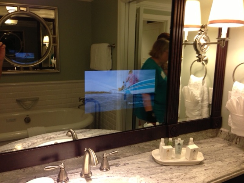 TV in vanity mirror