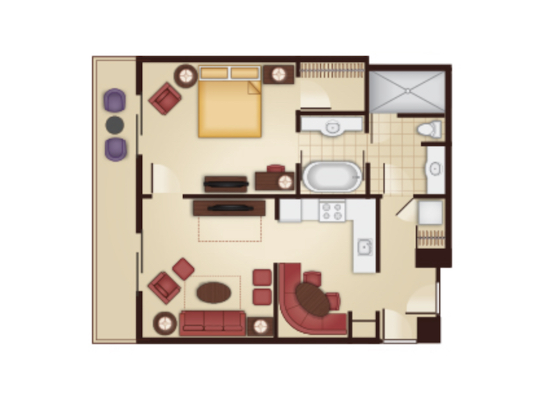 One Bedroom Villa floor plan