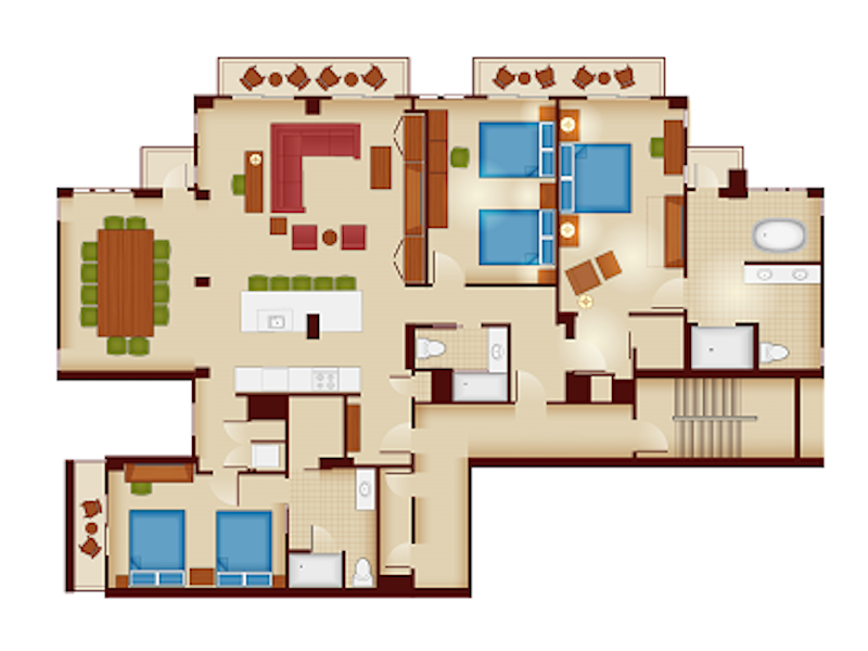 Copper Creek Three Bedroom Grand Villa floor plan