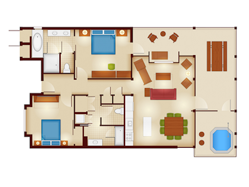 Copper Creek Cascade Cabin floor plan