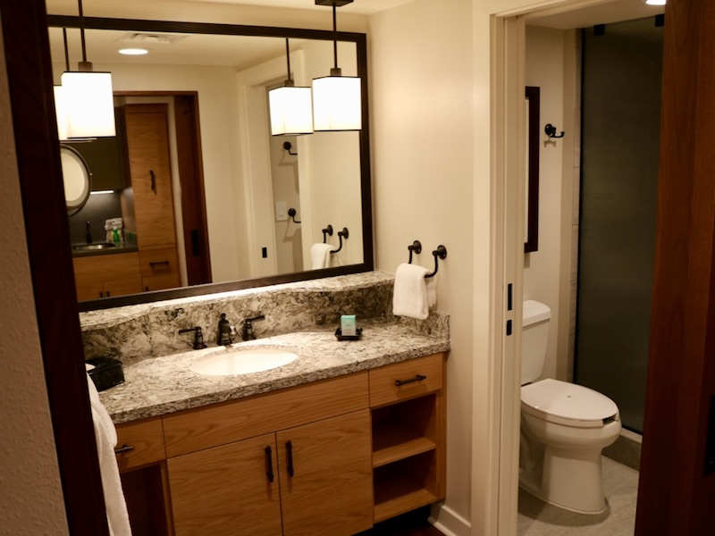 Studio bathroom overview